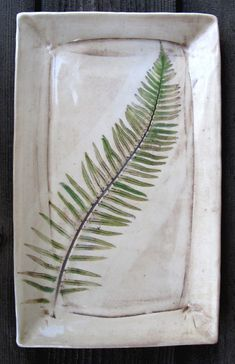 Fern Leaf Platter by Diana Popp