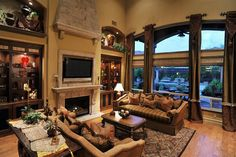 Gorgeous Tuscan Living Room