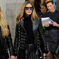 The beautiful @Olivia García Palermo wearing our Napoleon to #LFW ❤️❤️ #proud #styleicon #luxury #leather