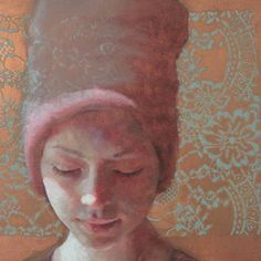 "Jennifer Anderson, ""Dipped in Sunshine"" oil on etched copper  on ArtStack #jennifer-anderson #art"