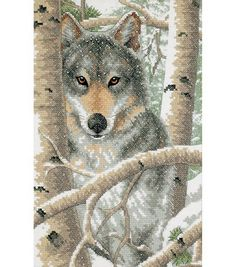 Display a beautiful cross-stitched portrait on a focal wall, when you use the Dimensions Wintry Wolf Stamped Cross Stitch Kit 9 x 14 to create it. The stamped cross stitch kit features a visually deli