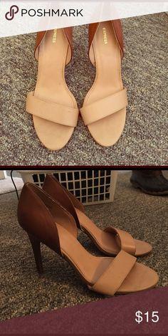 Express nude heels 2.5 inch heel. New. Express Shoes Heels