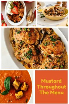 Mustard is more than just a condiment for your hotdogs and sandwiches but a zesty ingredient that can be used throughout the menu. Check out these recipes featuring mustard from appetizers to soups to main courses to even desserts. Savory Cheesecake, Vegetable Slice, Fruit In Season, Creamy Sauce, Honey Mustard, Apple Crisp, Roasted Potatoes, Caramelized Onions, Main Courses