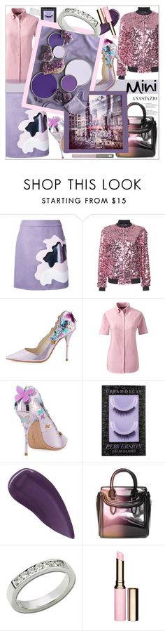 """""""Anastazio-Sweet Mini Handbags"""" by anastazio-kotsopoulos ❤ liked on Polyvore featuring Mary Katrantzou, Rebecca Taylor, Sophia Webster, Lands' End, Urban Decay, Lipstick Queen, Alexander McQueen, Anastazio and Clarins"""