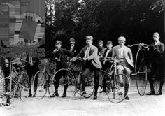 Kidderminster cycling club, 1890 (b/w photo) by English Photographer / Carpet Museum Archive, Kidderminster, UK