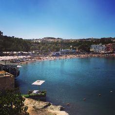 Today's swimming location: Saint George's Bay #malta # #travel #holishay #lovemalta