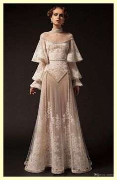 party Outfit Krikor Jabotian 2019 New Evening Dresses High Neck Lace Applique Long Sleeve Beading Formal P. Krikor Jabotian 2019 New Evening Dresses High Neck Lace Applique Long Sleeve Beading Formal Party Dress Vintage Pageant Evening Gowns After Prom Dresses, Wedding Dresses, Prom Gowns, Fantasy Dress, Mode Inspiration, Pretty Dresses, Beautiful Outfits, Gorgeous Dress, Vintage Dresses