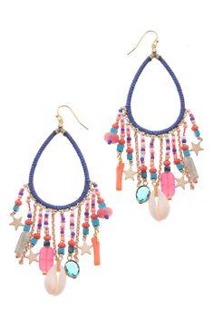 Nakamol Design Stone & Star Charm Earrings   Nordstrom