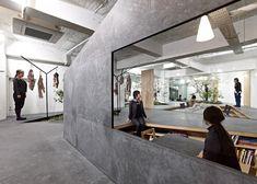 Sisii showroom by Yuko Nagayama is interspersed with rockeries