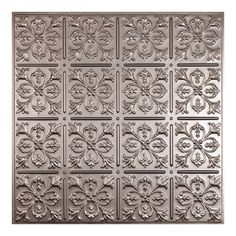 possible ceiling option ceilume fleurdelis faux tin 2 ft x 2 ft layin or glueup ceiling panel case of at the home depot mobile - Faux Tin Ceiling Tiles
