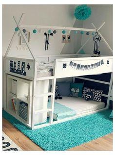 Bedroom Ideas For Teen Girls, Cool Kids Bedrooms, Kids Bedroom Designs, Bunk Bed Designs, Girls Bedroom, Kids Rooms, Cozy Bedroom, Bedroom Storage, Lp Storage