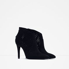 CUT WORK HIGH HEEL ANKLE BOOTS-View All-SHOES-SALE-WOMAN   ZARA United States