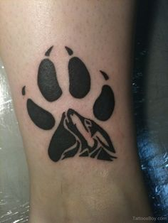 f232b9e77 Paw Print Tattoos | Tattoo Designs Tattoo Pictures Wolf Print Tattoo, Wolf Paw  Tattoos,