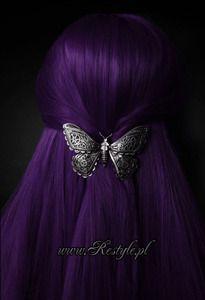Gothic hairclip MECHANICAL MOTH steampunk, hair accessory