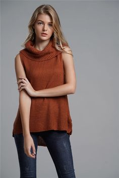 Women Knit Vest 2020 – How do you start a knit stitch? Knit Cardigan, Pullover Sweaters, Turtleneck Fashion, Vest Pattern, High Collar, Sweater Outfits, Fashion News, Knitwear, Sweaters For Women