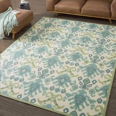 Nourison Vista Ikat Ivory Rug (Various Size Options) | Overstock.com Shopping - The Best Deals on 5x8 - 6x9 Rugs