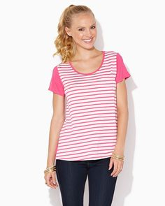 charming charlie | Penny Neon Pocket Striped Tee | UPC: 3000652987 #charmingcharlie