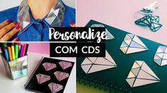 DIY: IDEIAS INCRÍVEIS COM CD´s - Crie e Personalize caderno, camisa e ch...