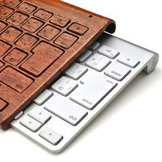wood keyboard cover, for Apple wireless