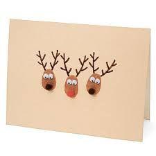 Resultado de imagen de tarjetas navidad pintura de dedos