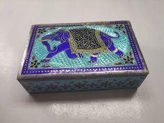 1970 Vintage Rectangular Enamel Silver Pill Box Silver Enamel, Decorative Boxes, Vintage, Home Decor, Decoration Home, Room Decor, Vintage Comics, Home Interior Design, Decorative Storage Boxes