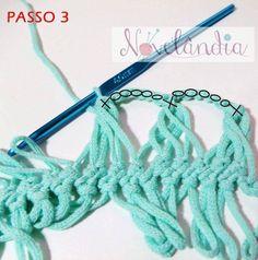 örgü bluz yapımı-5 Broomstick Lace Crochet, Hairpin Lace Crochet, Crochet Cow, Crochet Beret, Russian Crochet, Crochet Lace Dress, Crochet For Boys, Freeform Crochet, Crochet Motif