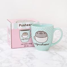 "18.1k Likes, 235 Comments - Pusheen (@pusheen) on Instagram: ""← Shop Link in Bio ←  Best pun ever! This adorable mug is now available at @heychickadee ☕"""