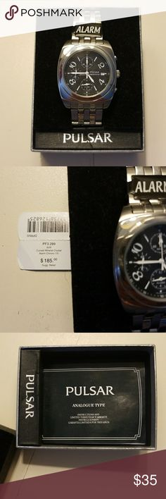 Pulsar Watch with Alarm Large face Pulsar watch with alarm feature. Brand new still in box! Pulsar Accessories Watches