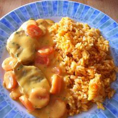 inkl. Reis im TM - Rezept Schweinefilet mit Karottensoße (WW) 12 PP von meusterin - Rezept der Kategorie Hauptgerichte mit Fleisch