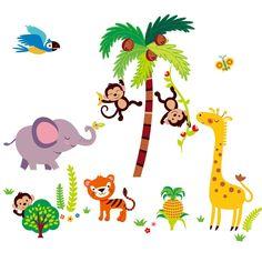 Cherry creek inc Tumble in the Jungle Giant Monkeys Peel & Stick Kids Room/Nursery Wall Decal for Boys & Girls