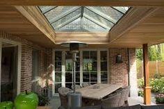 Afbeeldingsresultaat voor terrasoverkapping hout lichtstraat