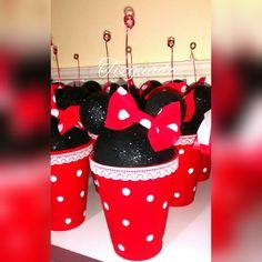 Centro de mesa #minnie #mouse #ears #dots