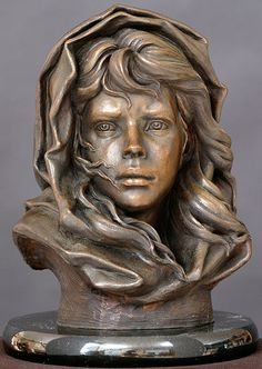 Fisherman's Daughter...bronze sculpture by Philippe Faraut