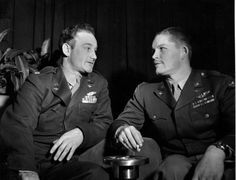 Ferebee and Beahan, the men who dropped the atomic bombs.