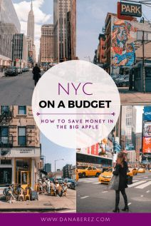 NYC on a Budget   How to Save Money When Traveling to New York City: NYC Budget Travel Guide & Tips. With NYC being one of the most expensive cities to visit, I have rounded up the best NYC on a budget tips, things to do, and on how to save money while traveling to NYC. The ultimate guide for NYC Budget Travel.
