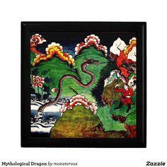 Mythological Dragon Gift Box #Mythological #Mythology #Dragon #Creature #Art #Jewelry #Keepsake #Trinket #Gift #Box