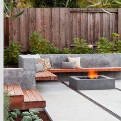 Tuinbank van beton