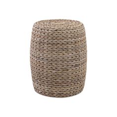 Natural banana leaves lend their unique texture to this fun drum stool. Its slim profile means it works just as well as a small side table as a place to kick up your feet.  Find the Porto Woven Ottoman, as seen in the Modern Beachside Bungalow Collection at http://dotandbo.com/collections/modern-beachside-bungalow?utm_source=pinterest&utm_medium=organic&db_sku=98036