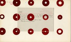 Karel Martens, Untitled, circa 1995. Letterpress monoprint on index card on top of catalogue card Stedelijk Museum Amsterdam