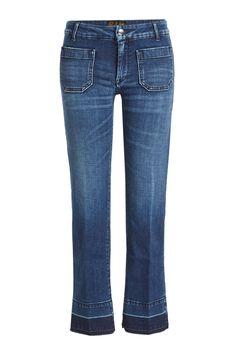 Seafarer Cropped Jeans In Blue Seafarer, Cropped Jeans, Flare Jeans, Hemline, Vintage Inspired, Indigo, Style Inspiration, Denim, Christmas Sale