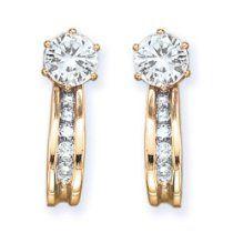 10K Yellow Gold 1/4 ct. Diamond Earrin