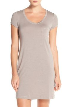 DKNY 'Citi Essentials' V-Neck Sleep Shirt available at #Nordstrom