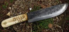 Hudson Bay Camp Knife antiqued Bone (ML Knives)
