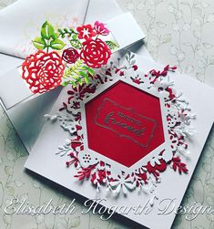 """Card created by Elisabeth Hogarth using Craftwork Cards """"Bellyband"""" cutting dies Craftwork Cards, Belly Bands, I Card, Birthday Cards, Projects To Try, Create, Handmade, Design, Bday Cards"""