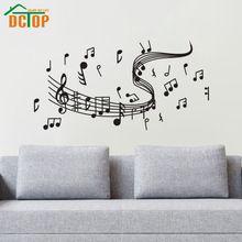 Notas da música Adesivos de Parede Arte do Vinil Auto Adesivo de Parede Adesivos de Decoração Para Casa Decorações de Sala de estar(China (Mainland))