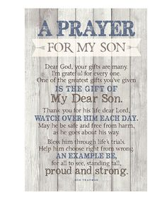 Look at this 'Prayer for My Son' Wood Plaque on #zulily today!