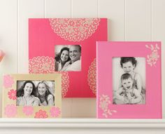 Stenciled Frames for Mother's Day