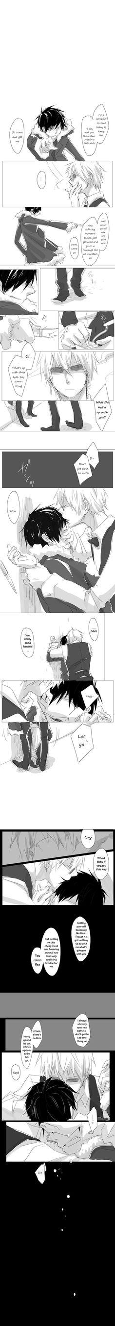 Aww poor Izaya, I'm grateful you gave him a hug Shizu-chan... :P Izaya needs one every now and again.