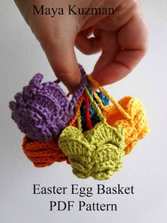 Easter Egg Crochet Basket - PDF Pattern