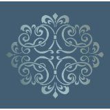 "Drywall Stencil  Large Wall Damask Faux Mural Design #1011, Stencil Size 12"" X 12"", Pattern Size 9"" X 11"""